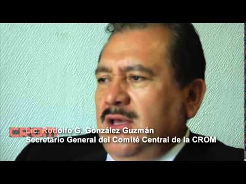 Rodolfo G. Gonz�lez Guzm�n, Secretario General de la CROM