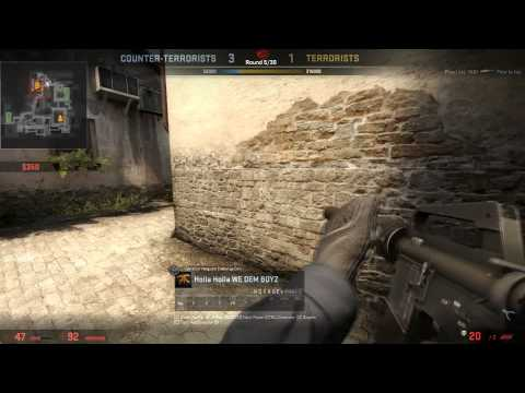 First video , 1v4 clutch + defuse