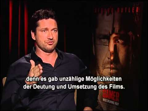 gerard - Gamer| Interview Gerard Butler (englisch, deutsche Untertitel) Mit Gerard Butler, Amber Valletta, Michael C. Hall. Ein Film von Mark Neveldine, Brian Taylor....