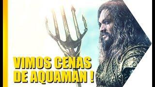 Vimos alguns minutos de Aquaman, o novo filme da DC, aqui na Comic Con de San Diego! Peixes gigantes, tubarões enormes e...