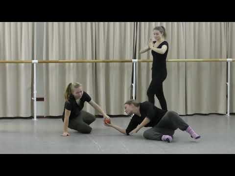 Щелкина В.Д. Работа на полу с глухими студентами - актерами: слайды, перекаты, перемещение на нижнем уровне и др.