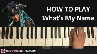 """HOW TO PLAY - Descendants 2 - What's My Name (Piano Tutorial Lesson)Visit Amosdoll's Best Piano Method website for information on all piano courses and services: http://bestpianomethod.com/Learn Amosdoll's methods on how to play piano covers like this song or ANY song within 10-20 minutes by ear WITHOUT sheet music or synthesia by grabbing your FREE preview of the """"Ear Mastery Book"""" here: http://bestpianomethod.com/free-book/-- JOIN AMOSDOLL'S PREMIUM PIANO MEMBERSHIP --Join Amosdoll's PREMIUM PIANO MEMBERSHIP to gain access to all exclusive piano courses, full song video lessons, and festive packages and lessons: http://bestpianomethod.com/premium-membership/-- BEGINNER'S PIANO COURSE --If you are completely NEW to the piano and don't know WHERE to start, then get started and learn from my top-selling Udemy piano course """"Piano From Zero To Pro"""" designed specifically for BEGINNERS: https://www.udemy.com/piano-from-zero-to-pro-beginner-essentials-to-play-by-ear-amosdoll-- FULL SONG VIDEO LESSON SERVICE --If you want me to make a full song video lesson (30-60 minutes) on any specific song or arrangement of your choice, then use my custom """"Full Song Video Lesson Service"""":http://bestpianomethod.com/full-song-video-lesson/-- SHEET MUSIC TRANSCRIPTION SERVICE --Not only I can play and teach any song in the world through video, but I can also write any song or arrangement out onto sheet music using my """"Sheet Transcription Service"""":http://bestpianomethod.com/sheet-music/-- SONG REQUESTS --Pick any song or arrangement of your choice, and I will professionally record a dedication video for you and send you the HD mp3 file:http://bestpianomethod.com/request-any-song-piano-cover-service/-- BECOME MY PATRON --Donate on patron to support me as a musician whilst also getting exclusive monthly rewards for yourself:https://www.patreon.com/amosdollmusic-- USING MY PIANO COVERS --You can use my piano covers in your videos as long as you credit me by linking my original video in your d"""