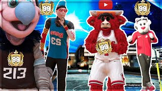 I UNLOCKED 4 DIFFRENT 99 OVERALLS ON NBA 2k19..USING A 99 SLASHER,STRETCH,PLAYSHARP AND POST my park