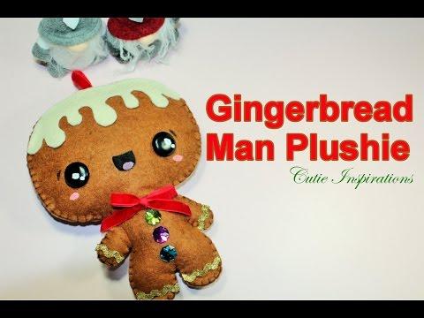 DIY Gingerbread Man - DIY plushie tutorial