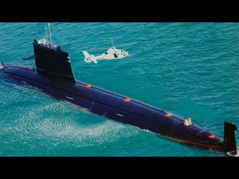 Secret Chinese SUBMARINE Spotted by US SATELLITE
