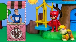 MAGIC DONUT Stand Assistant With Paw Patrol + PJ Masks + Mickey Mouse Surprise Toys Slime Video