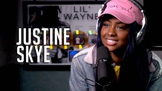 Hot 97 - Justine Skye announces signed to Roc Nation, Talks Being Friends w/ Kylie Jenner + DMs