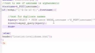 PHP Tutorial - 30 - Check For Duplicate Names In Game
