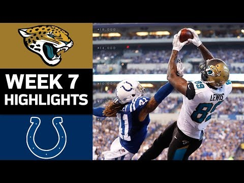 Jaguars vs. Colts | NFL Week 7 Game Highlights (видео)