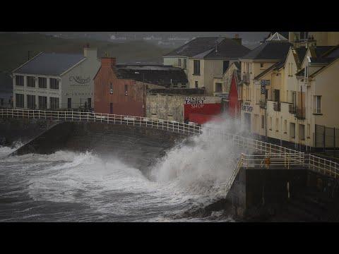 Storm Ophelia makes landfall in Ireland