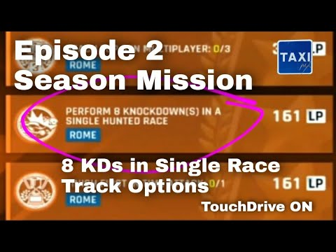 Asphalt 9 - Perform 8 Knockdowns in a Single Hunted Race - Easy Track Options - TD - Mission Guide