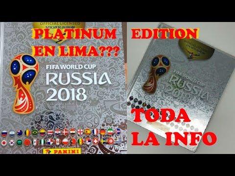 Mundial Rusia 2018: ¿¿El álbum PLATINUM PANINI llegará a Lima?? - Fecha exacta