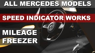 Mercedes MILEAGE Stop SPEED INDICATOR odometer rollback correction can emulator MB STAR xentry
