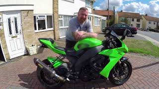 8. KAWASAKI ZX10R 2009 REVIEW CHAT & LOOK AROUND  MARK SAVAGE