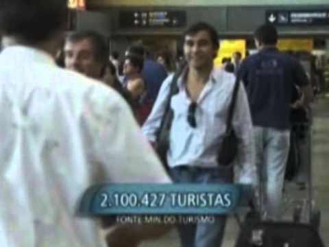 Cresce número de turistas estrangeiros que visitam o Brasil