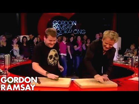 James Corden Tells Gordon Jamie Oliver Taught Him To Cook | Gordon Ramsay