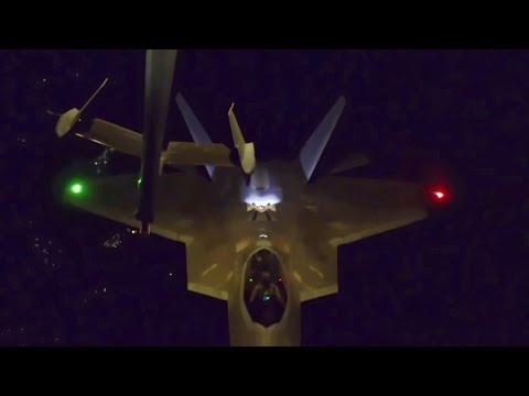 Two clips show in-flight refueling...