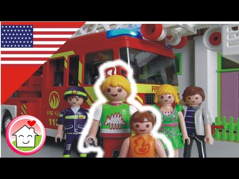 Playmobil fire station - Chimney on Fire - The Hauser Family