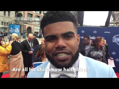 Ezekiel Elliott On His NFL Draft Half-Shirt