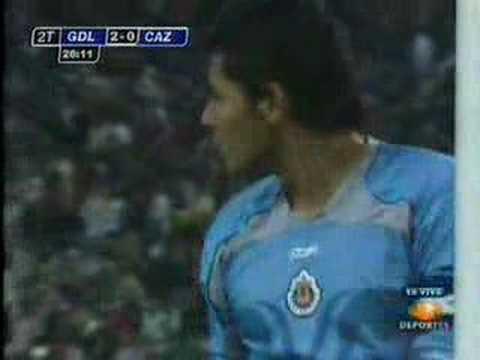 Gol de Adolfo Bautista a Cruz Azul