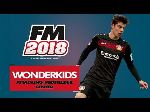 Football Manager 2018 Wonderkids | Top 20 Best Attacking Midfield Center