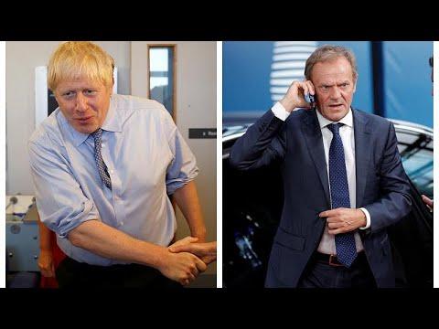 EU: Absage an Premier Johnson - Ratschef Tusk reagiert verhalten auf Brexit-Crief