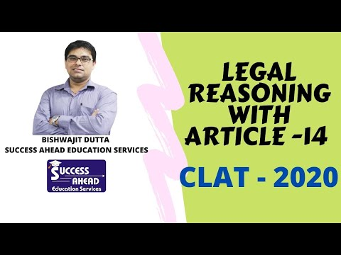#trending #CLAT2020 #legal reasoning with Article- 14