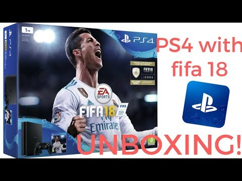 PS4 With Fifa 18 UNBOXING!