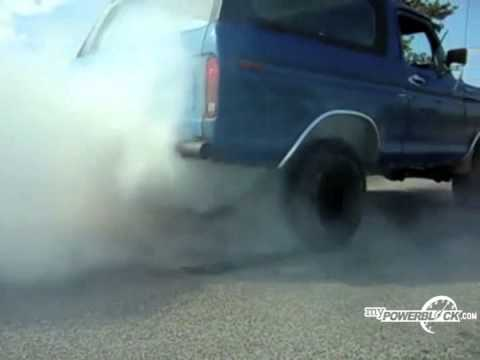 myPowerBlock: 1978 Ford Bronco Burnout