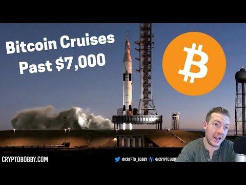 Bitcoin ROCKETS Past $7,000 video
