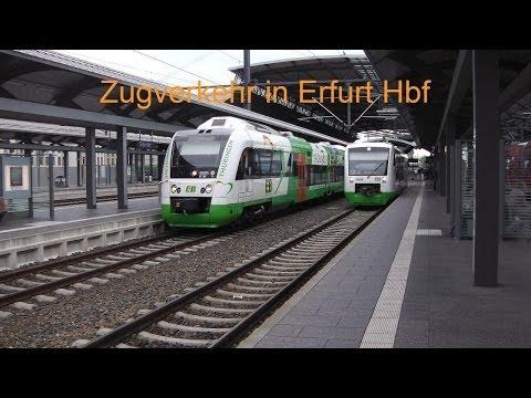 Zugverkehr in Erfurt Hbf - von Nah- zu Fernverkehr