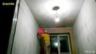 Как Быстро Покрасили Потолок Белой Латексной Краской  TimeLapse