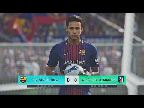 PES 2018 Atl Madrid vs Barcelona - Penalties | PC | HD 60FPS