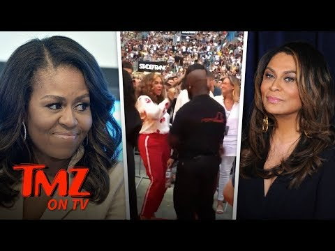 Michelle Obama Crazy Dancing At Beyonce Concert! | TMZ TV