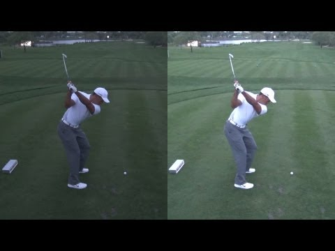 GOLF SWING 2013 – TIGER WOODS – LOW LIGHT ELEVATED DOWN THE LINE & SLOW MOTION – 1080p HD 5.1 DOLBY