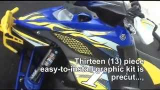 10. Auto Trim DESIGN Graphic Kit 6 for Yamaha FX Nytro RTX Snowmobile