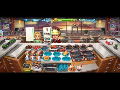 COOKING FEVER {Sunset Waffle} Level 27-28 [3 Stars] Fully Upgraded & Fun
