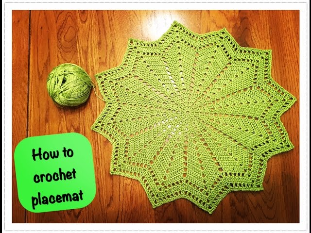 How To Crochet Placemat Sport Videos
