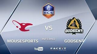 mousesports vs GODSENT, inferno, ECS Season 4 Europe