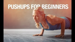 Your best beginners guide to fitness is our complete 90 day fitness and nutrition system http://athleanx.com/x/how-to-do-pushupsLearn how to do pushups for beginners with this complete pushups tutorial.  This pushups for beginners workout will show you how to do a pushup regardless of your fitness level.  If you are a beginner it will show you how to do a push up correctly. If you aren't a total beginner it will show you how to get better at pushups.  There are 5 variations in this pushups for women video.  The first variation in this pushups tutorial is the most beginner pushups exercise, the wall pushups. If those are too easy for you, you can try box pushups on your knees. Once you become more advanced and can do 3 sets of 12 reps of the box pushups you can try another beginner pushups variation, the floor pushups on your knees.  If you can already do floor pushups on your knees but can't quite get to a full pushup on your toes, there are two variations that can help you build strength to learn how to do pushups.  The crunching pushup and the stop pushup are great intermediate exercises that help you build the upper body strength needed to do a pushup.If you are a beginner first try the wall pushups and then progress your way to the more difficult versions later in this beginners guide to how to do a pushup. If you are looking for the best workout program for beginners, check out our complete Athlean-XX for Women program https://athleanx.com/best-workout-program-for-women/getleanHere are the 5 variations in this how to: pushups for beginners video:1) Wall Pushups2) Box Pushups on Knees3) Floor Pushups on Knees4) Crunching Pushup5) Stop PushupFor more of the best workout tutorials, subscribe to our Youtube channel https://www.youtube.com/user/womensworkouts