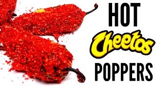 FLAMIN' HOT CHEETOS JALAPENO POPPERS DIY  How Tohave you ever wondered how to make DIY flamin' hot cheetos Jalapeño Popper? this is how y'all this is the recipe! it's actually so fun to make as long as your keep your eyes away from the jalapenos LOL! the flaming hot cheetos really enhanced the jalapeno poppers and they slayed! i hope you guys like this diy hot cheeto recipe!WATCH MY LAST VIDEO: https://youtu.be/vLM-nTu3bDAFOLLOW ME!Twitter  @TimmysWellInstagram  @TimmyswellSnapChat  timmyalvarezYounow  TimmyTimatobasically what i did in this how to flamin' hot cheeto DIY was i started by preparing my jalepenos to become appetizers! i then cooked my bacon and crushed my flaming hot cheetos into a breadcrumb thing! I then made my filling by mixing the bacon with cream cheese and cheddar cheese! i put the fulling into the jalapeno popper and then coated them in flaming hot cheetos, flour and eggs. i cooked it until it was done and and then ate them! they were really good! let me know what you guys thought of this recipe!