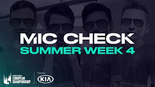 Kia #LEC Mic Check: Week 4 (Summer 2020) by League of Legends Esports