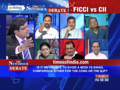newshour - In a debate moderated by TIMES NOW's Editor-in-Chief Arnab Goswami, panelists -- Smriti Irani, Vice President & MP, Rajya Sabha, BJP; Sankarshan Thakur, Rovi...