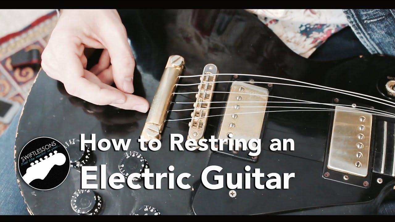 Electric Guitar String Change Lesson – Gibson Les Paul Maintenance