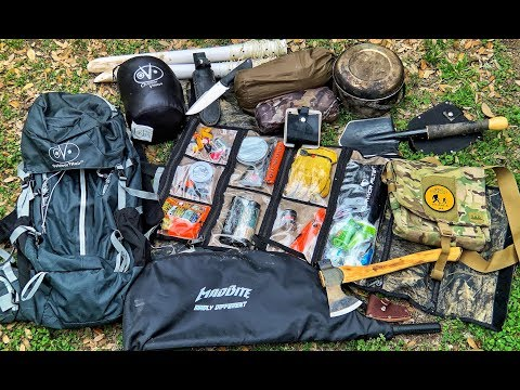 My Wilderness Survival Kit & Camping Gear - 5 Days Alone at Bugout Camp