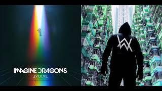 Song Of The River - Imagine Dragons vs Alan Walker (Mashup)