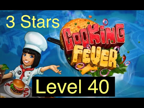 Cooking Fever: Hardest Level (Fast Food Court: 3 Stars On Level 40) - Complete Walkthrough On IPad