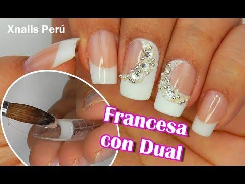 Videos de uñas - Uñas Acrilicas Elegante Francés Esculpido con Dual / Xnails Peru