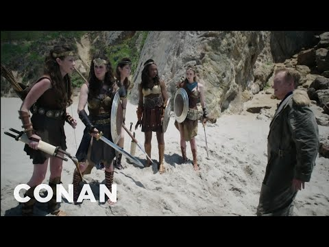 Conan O Brien s Wonder Woman ComicCon Cold