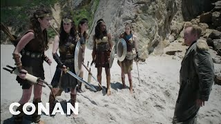 "Video Conan's ""Wonder Woman"" Cold Open  - CONAN on TBS MP3, 3GP, MP4, WEBM, AVI, FLV Juni 2018"
